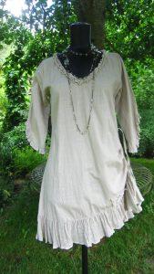 Tunika med dragsko och halsband